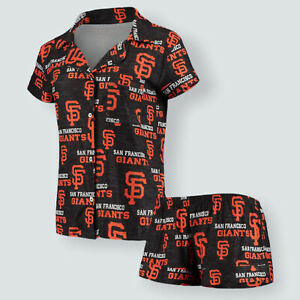 San Francisco Giants Women's Shirt & Shorts Sleep Pajama Set Size Medium NWT