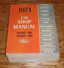 1971 Ford & Mercury Car Shop Service Manual 5 Volume Set Mustang 71