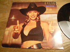 """KYLIE MINOGUE """"NEVER TOO LATE/KYLIE´S SMILEY MIX """" 7 INCH SWEDISH 1989 TESTPRESS"""