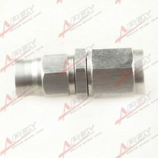 3AN AN-3 Hose To M10x1.0 Straight Female Stainless Steel Hose End Brake Fitting