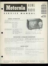 Motorola 52R11A 52R12A 52R13A 52R14A 52R15A 52R16A AM IF Radio Service Manual