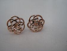 ORO Celtico orecchini 9 carati oro rosa borchie