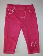 New Princess Glitter Hello Kitty Pink Capri Denim Leggings Size 5 Kid NWT Girls