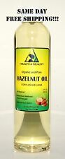 HAZELNUT OIL by H&B Oils Center ORGANIC CARRIER COLD PRESSED 100% PURE 8 OZ
