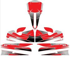 CUSTOM M4 FULL KART STICKER KIT - RED - KARTING - GO KART - JakeDesigns