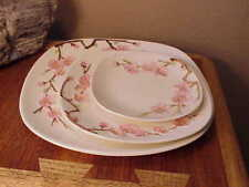 Metlox Peach Blossom Poppytrail Plate Trio Dinner Plate Salad Plate B&B Plate