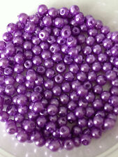 4mm Glass faux Pearls strand - Mauve (200+ beads) jewellery making, craft
