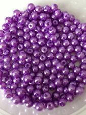 4 Mm Cristal Perlas de Imitación De Filamento-Malva (200 + Perlas) la fabricación de joyas, Artesanales