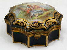 "MAGNIFICENT 1900'S SEVRES HANDP ENAMELES BOX ""SIGNED"""