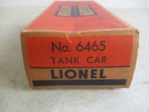 VINTAGE LIONEL NO. 6465 TANK CAR IN ORIGINAL BOX TRAIN MODEL KIT