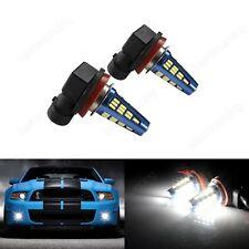 2x H8 H11 SMD 5W LED Daytime Running Driving Fog Light Bulbs Xenon White 12-24V
