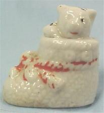 Kitten in Bootee Porcelain Figurine Miniature Japan Vintage