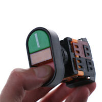 Red Green Light Indicator Momentary Switch Power Start Stop ON OFF Push RS