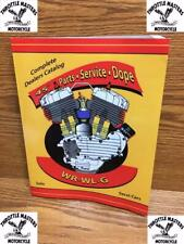 """Parts Catalog, Book, Service Manual and Shop Dope for Harley 45"""" Solo, Servi-Car"""