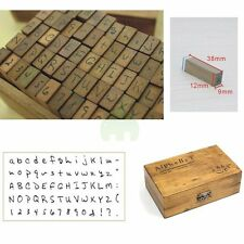 70pcs/set Multipurpose Number Alphabet Letter Wooden Box Wood Rubber Stamp