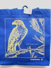 """New listing Red Tail Hawk Bird Earthwise Reusable Colorful Blue Shopping Bag 13""""x14""""x7"""" New!"""