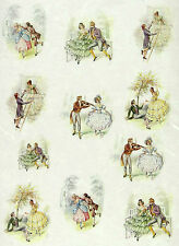 Rice paper -First Date- for Decoupage, Scrapbooking Sheets