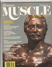 MUSCLE BUILDER bodybuilding magazine/JOE WEIDER statue/Schwarzenegger 11-79