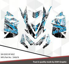 SKI-DOO XP MXZ SNOWMOBILE SLED WRAP GRAPHICS STICKER DECAL KIT 2008-2013 SA0678