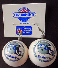 SEATTLE SEAHAWKS Earrings Vintage Official NFL Licensed Ping Pong Balls  FUN!