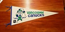 Vancouver Canucks CHUCK CANUCK Pennant