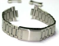 SEIKO STEEL WATCH BRACELET 19MM CURVED ENDS FOR CASES 7S26-3040 7S26-0480 7009-3