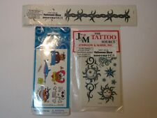 16 Mixed Styles Fake Temporary Tattoo Stocking Cosplay Tribal Costume Adult Kids