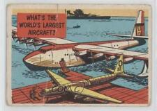 1957 Topps Isolation Booth #32 What's the world's largest aircraft? Card 0s4