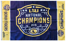 LSU Tigers 2019 National Champions Flag 3x5ft banner