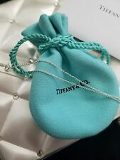 "Tiffany & Co Authentic 925 Sterling Silver Necklace Pendant 20"" Long Chain NEW!"