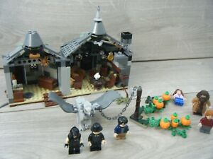 LEGO 75947 HARRY POTTER HAGRIDS HUT BUCKBEAKS RESCUE SET 99% WITH FIGURES