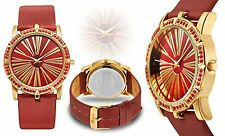 NEW Maurice Eberle 14002 Women Couture Collection Royal Red Ladies Fashion Watch