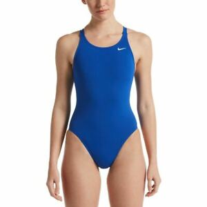 Nike Women's Swimsuit Poly Solid Fast Back One Piece -  Game Royal