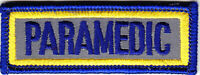 """PARAMEDIC Reflective Tab/Hat Patch 3"""" by 1"""" 3X1"""