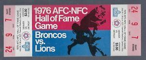 VINTAGE 1976 NFL DENVER BRONCOS vs DETROIT LIONS  FULL FOOTBALL TICKET