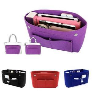 MultiPocket Organizer Handbag Travel Felt Bag Insert Liner Organiser Inner Bag