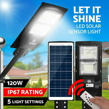 LED Solar Lights Street Flood Light Motion Sensor Remote Outdoor Garden Lamp 120