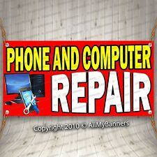 phone & computer repair advertising vinyl banner flag sign many sizes avail fix