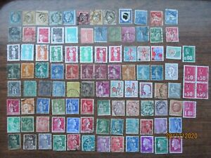 100  FRANCE small size  STAMPS