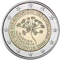 Slowenien 2 Euro 2010 Botanischer Garten Ljubljana Gedenkmünze bankfrisch
