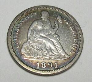 1891 Seated Dime (#1022F)