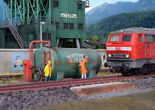 Kibri 39932 - H0 Station de Remplissage de Diesel Schwarzbau - Neuf