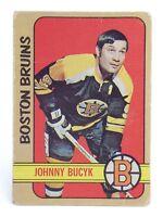 1972-73 Johnny Bucyk #1 Boston Bruins Left Wing OPC O-Pee-Chee Hockey Card H444