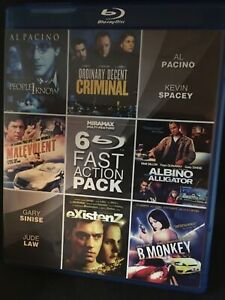 6 Fast Miramax Action Pack Set. Blu-ray OOP Cheap!! Rare Existenz Cronenberg