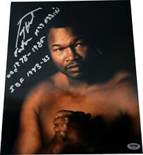 "Larry Holmes Signed ""Easton Assassin WBC 78-85 IBF 83-85"" 11x14 Photo PSA LST646"