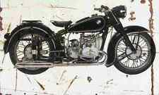 BMW R51 2 1950 Aged Vintage Photo Print A4 Retro poster