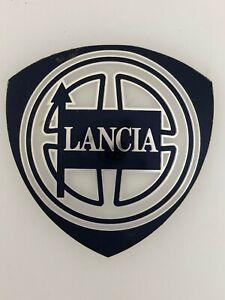 Lancia bonnet boot hood ? plaque badge emblem sign decal 1980s/90s LARGE 58mm