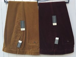 Mens Very soft 100% Cotton corduroy trouser - Wine Corn & Navy Sizes 48-50 ONLY