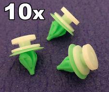 10x Renault Plastic Clips for Interior Door Cards, Trim Panels, Garnish & Fascia