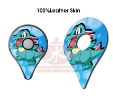 Pokemon GO Plus 2 PCS Of Totodile Top Cover Leather Skin Stickers Accessory